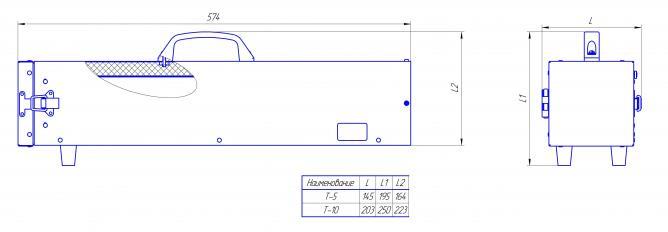 Чертеж термоса для электродов Делсот Т-5